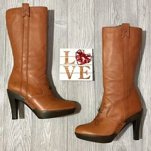 🦄 Isabella Fiore Italian Leather Brown Boots ~ 7